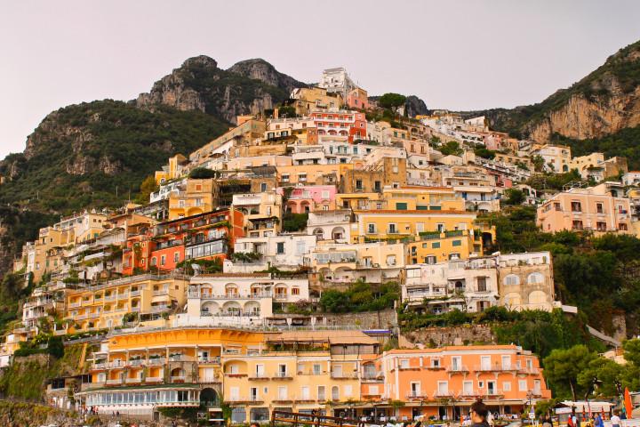 Mountain town, beautiful small town