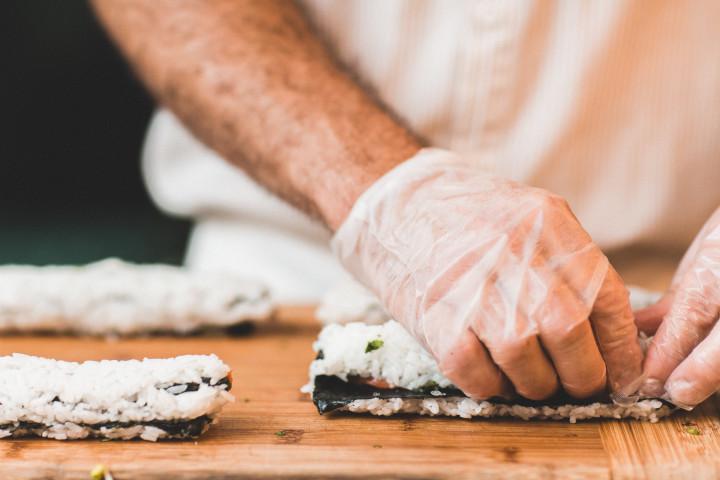 sushi, learn to make sushi, food