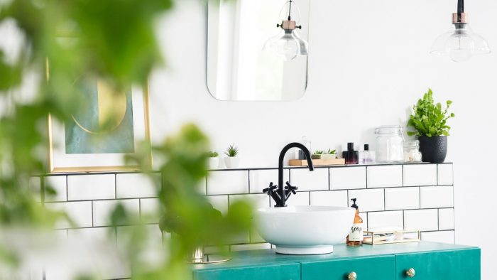modern, bathroom sink, white, clean