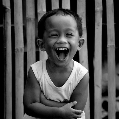Laughter, pure joy, happiness