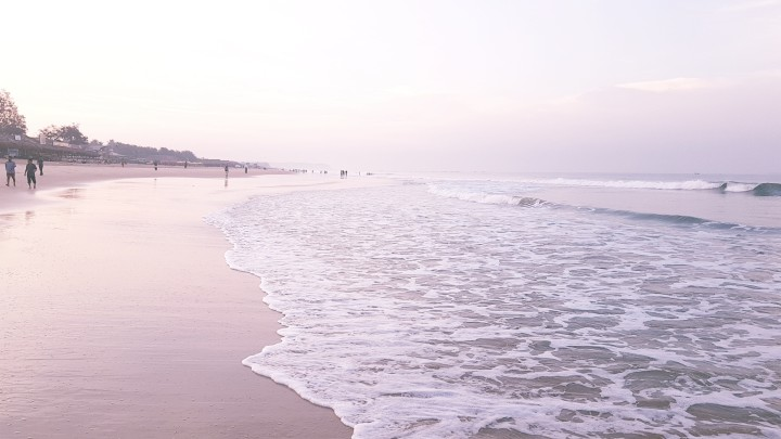 beautiful beach, ocean waves