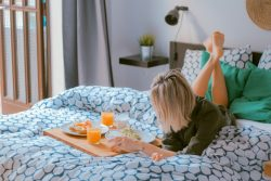 Breakfast in bed, world travel, room service