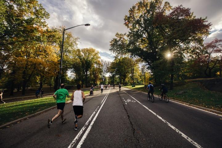 Exercise outside, fitness, healthy, running, friends, biking, fresh air