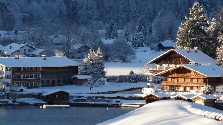 Snow, mountain air, ski town, lake, beautiful