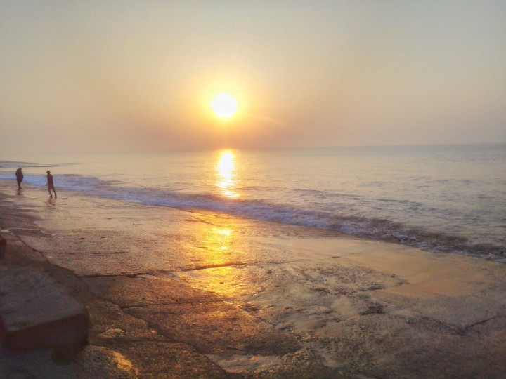 beach, vacation, sunset