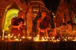 temple, meditation, Buddhist monks