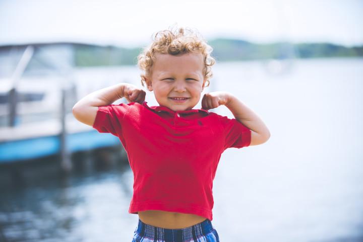 Superman cute kid
