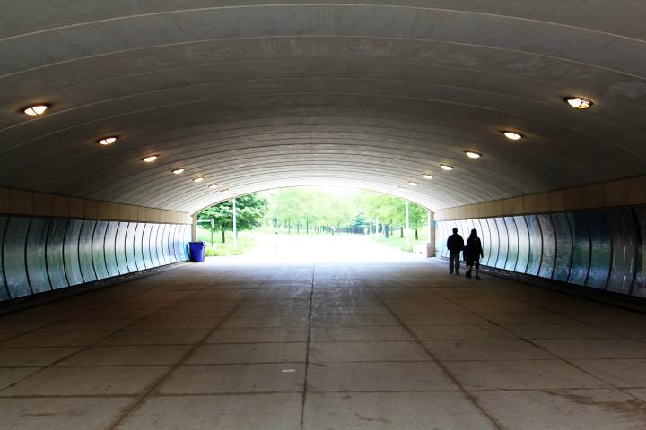 tunnel, vision, walkway