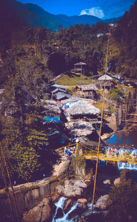 mountain air, mountain town, hiking, waterfall, beautiful town