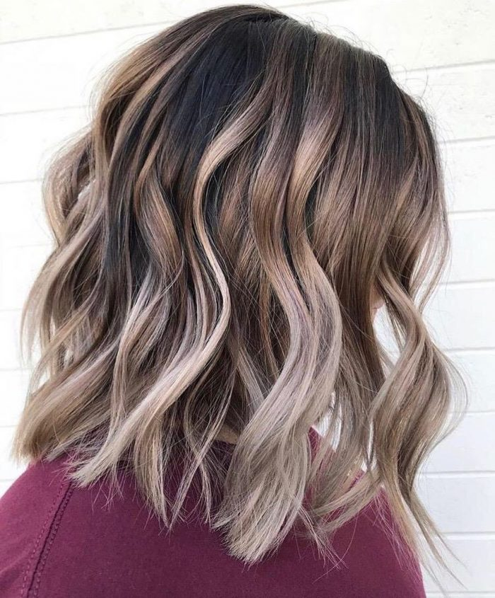Medium hair color, beauty, change