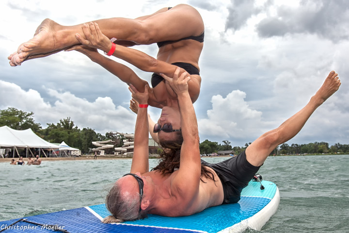 couple goals, yoga, on the water