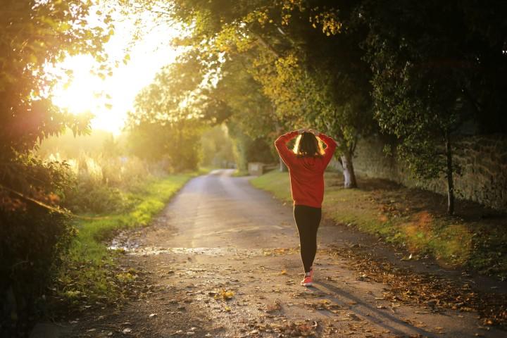Sunrise, running, fresh air, exercise, happy place