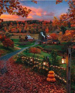 Vermont, fall, autumn