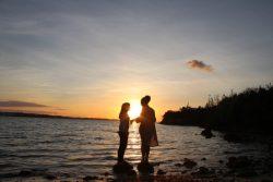 sunset, lakes, water, fresh air, beautiful, relaxing