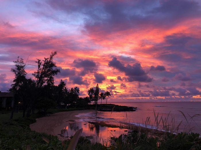 Peace, lake, sunset