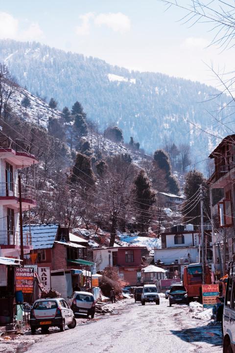 Mountain town, ski, travel, fresh air