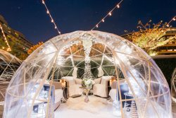 Dinner in an igloo, yes please, romantic, secluded