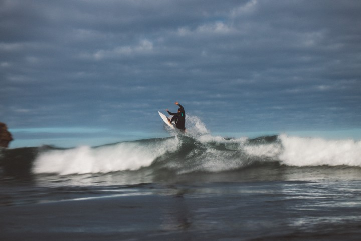 Big surf, waves, fresh air, happy