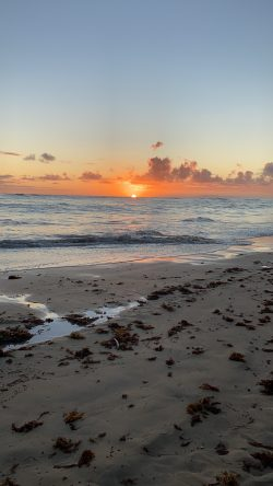 Dominican Republic, beautiful beach, waves, sunrise