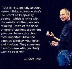 Motivational quotes. Steve Jobs