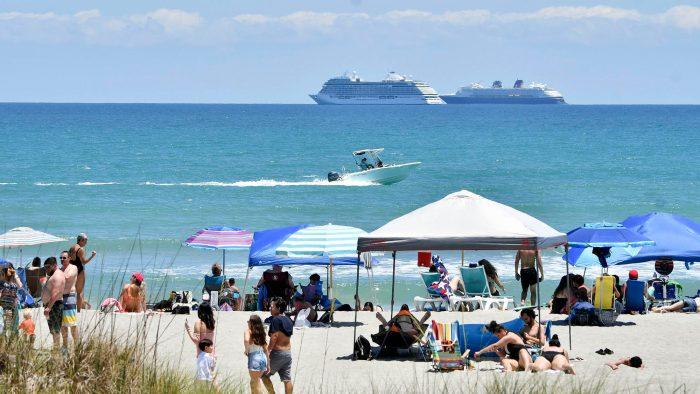 beach, cruise, boat