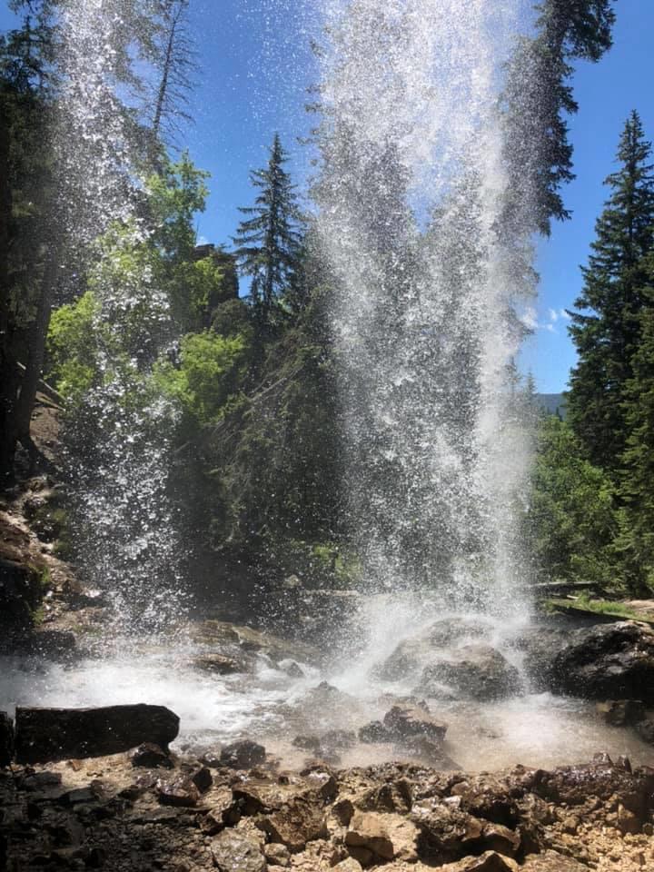 Hanging Lake, Colorado, behind a waterfall. magical