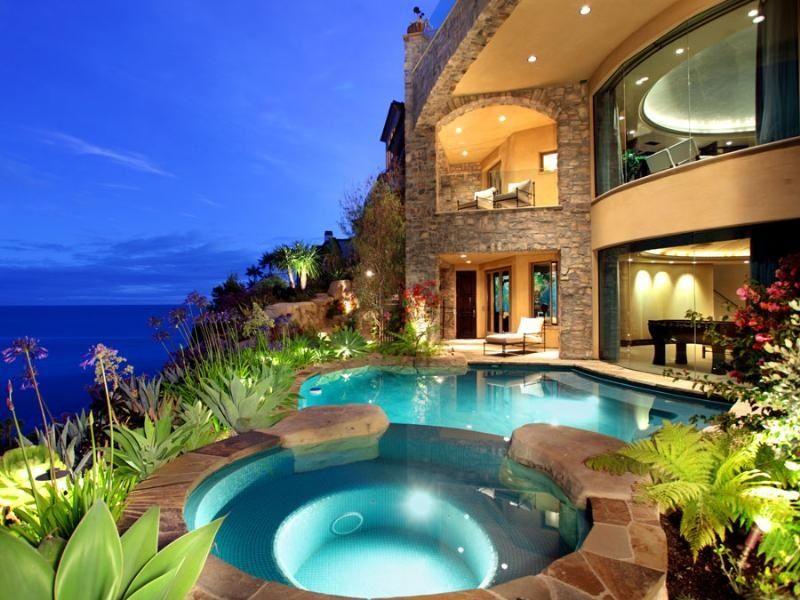 Beach house with a pool