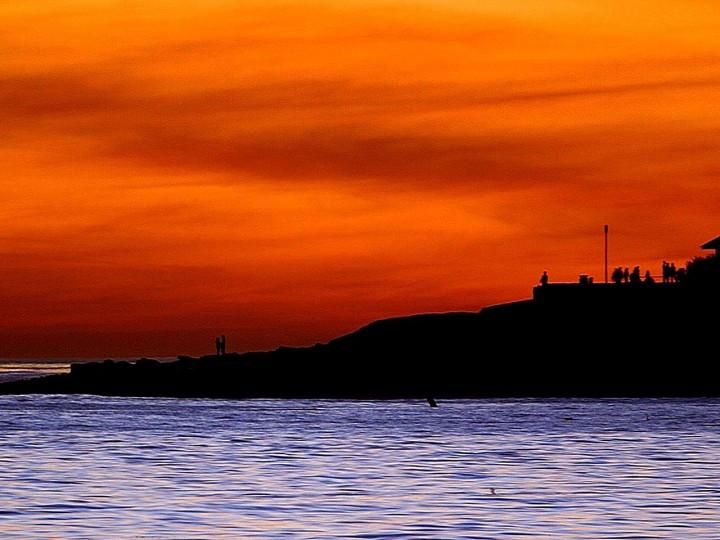 sunset, ocean, beach, beautiful