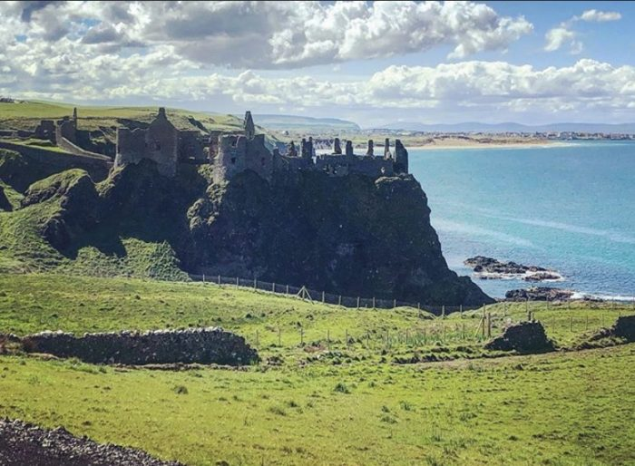 Castle, Ireland, ocean, vacation, Cliffside
