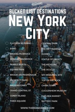 New York, bucket list, vision board, vacation