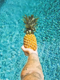 pineapple, fresh fruit, healthy