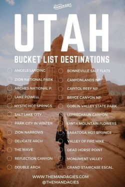 Utah, vacation, bucket list