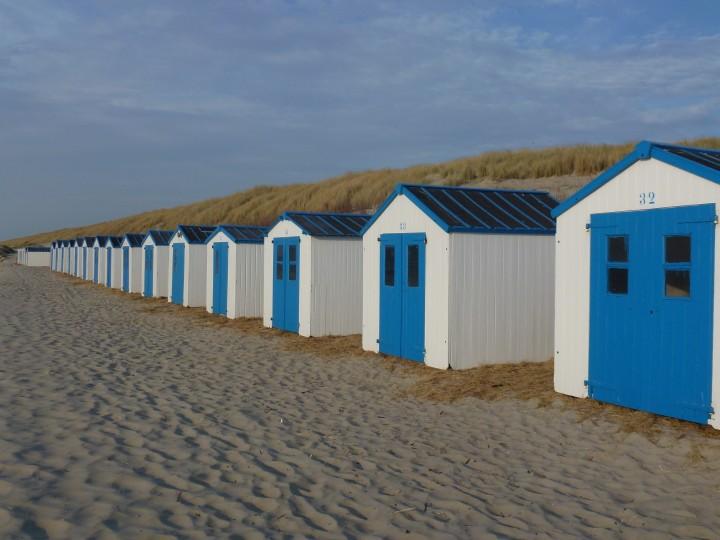 beach, vacation, huts