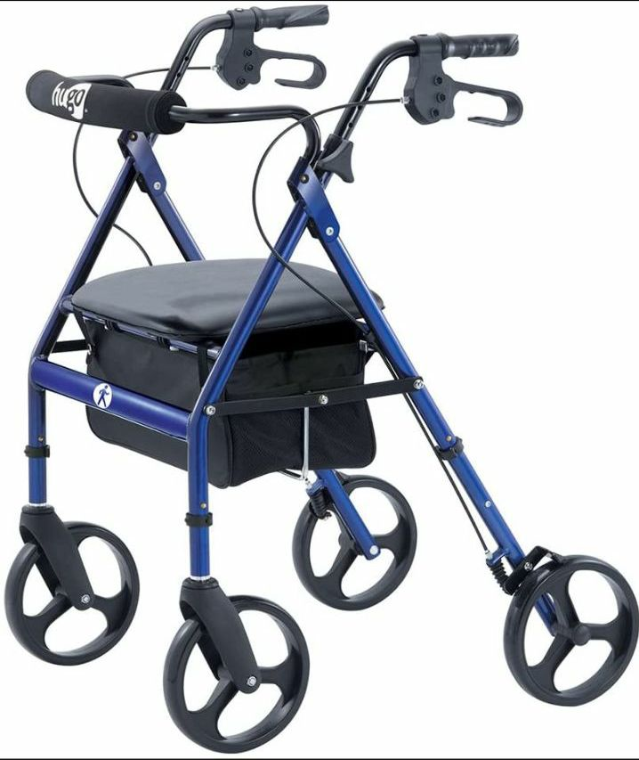 I need a Hugo Walker with a Seat and an 8″ wheels but must have a bag basket for my stuff  ...