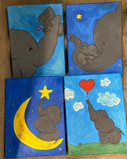 Learn to paint, draw, elephants