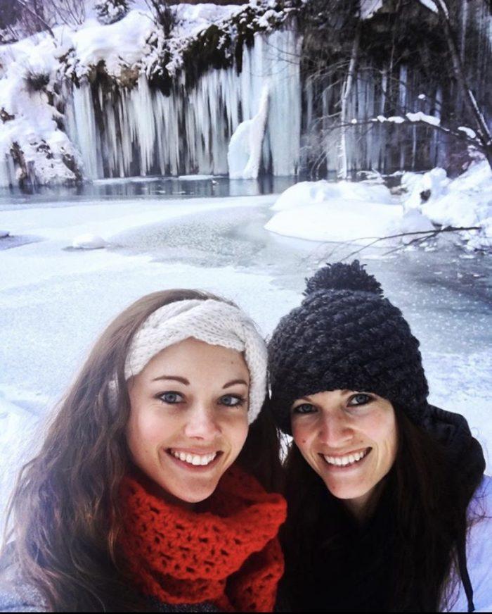 Hanging Lake, frozen, hiking, waterfalls, Colorado, dreamlike