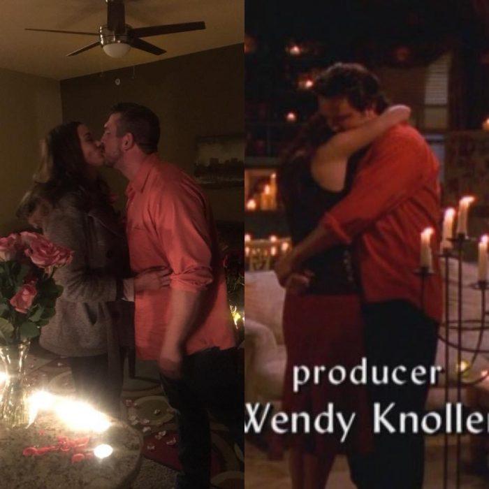 "Proposal, ""Friends"" fans, dream come true, roses, candles, love"