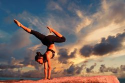 Yoga, mountain top experience, tone, strength, beauty