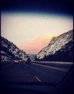 Winter drive, Glenwood Springs, Colorado, mountains