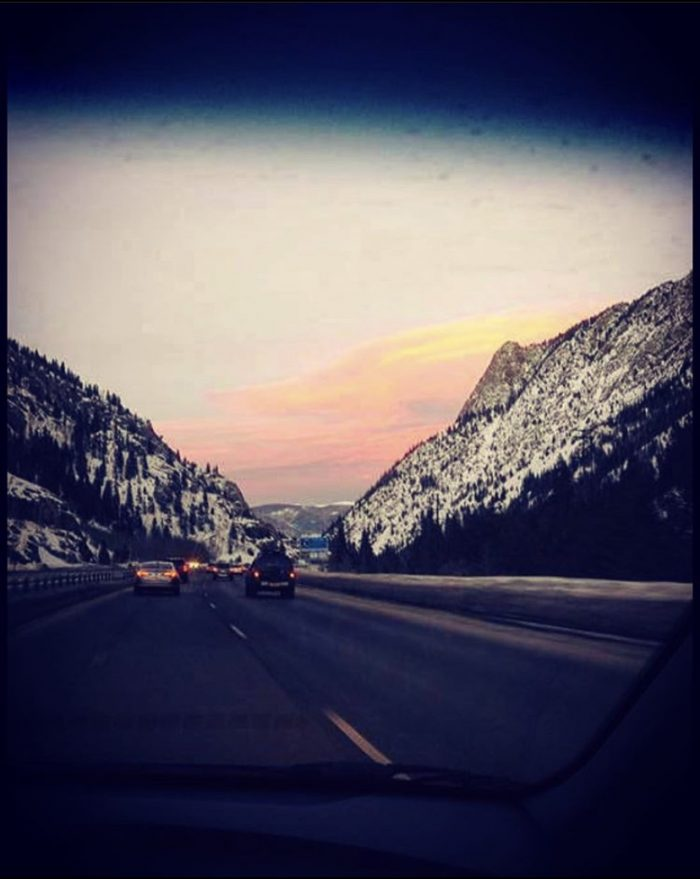 Winter drive, Glenwood Springs, Colorado, mountains