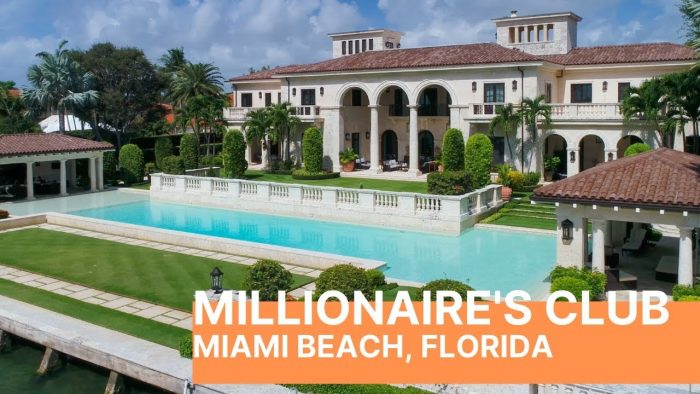 Miami Beach mansion, pool