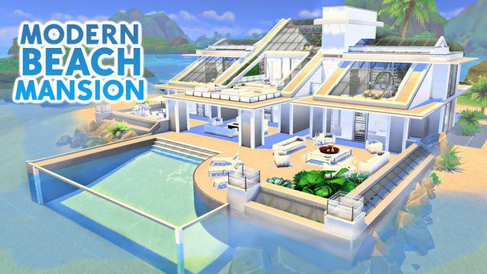 Modern beach mansion
