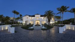 mansion, house, palm trees, beautiful